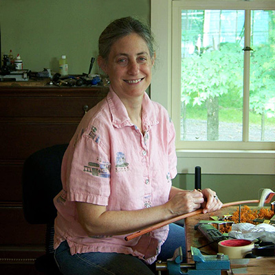 Susan Lipkins in her studio